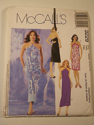 Halter Dress Sewing Pattern McCall's # 3229 Size 4-6-8-10 Complete