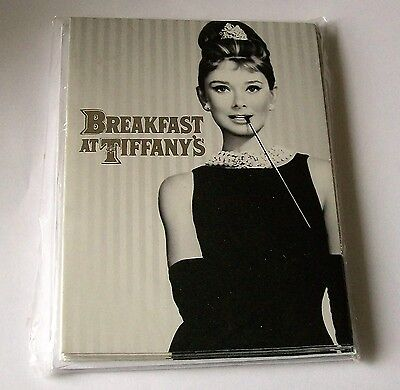 Breakfast at Tiffany's Audrey Hepburn 8 note cards w envelopes from 2012, cig