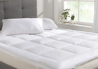 Luxury Mattress Topper 4'' Super Soft Thick Microfiber All Sizes