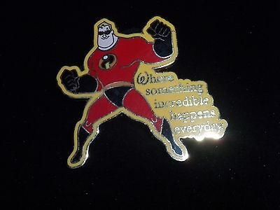 DISNEY PIN MR.INCREDIBLE from THE INCREDIBLES WHERE DREAMS COME TRUE AUTHENTIC
