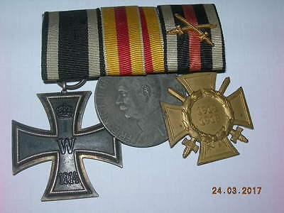 3 German cross,medal 1914-1918.100% with ribbon good conditon. Original 100 %.
