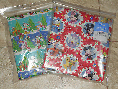 Mickey Minnie Mouse Christmas Wrapping Paper 20 Sq Ft American Greetings Folded