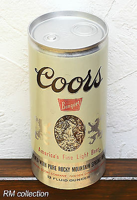 COORS BANQUET LIGHT 1970s American beer can bottom opened