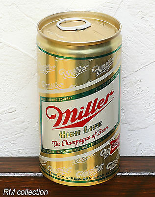 MILLER 1970s American beer can bottom opened