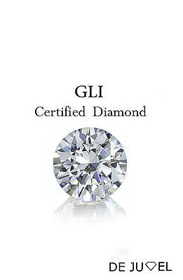 Untreated 0.21 ct color-J clarity-SI1 Round Natural Loose Diamonds GLI Certified