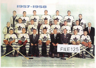 1957-58 Barry Cullen  Toronto Maple Leafs Team Picture More Here