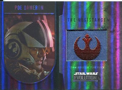 Star Wars Evolution 2016 Bronze Patch Card [170] Poe Dameron - The Resistance