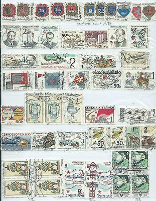 Czechoslovakia - 54 stamps used - Years 1984 to 1989
