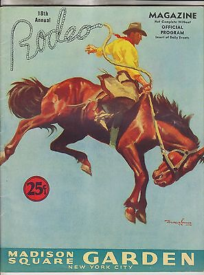 1943 18th ANNUAL RODEO MAGAZINE & OFFICIAL PROGRAM - MADISON SQUARE GARDEN NYC