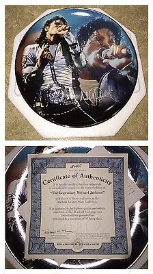 THE LEGENDARY MICHAEL JACKSON Bradford Exchange Plate Collection 2010 Ltd Ed