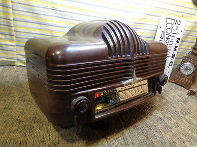 "Estate*3 Day Sale Sonora Excellence 301 Bakelite Art Deco  ""cadillac"" Tube Radio"