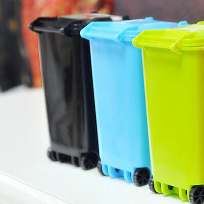 Plastic Trash Can Recycling Mini Dustbin Storage Bin Pen Holder Free Shipping