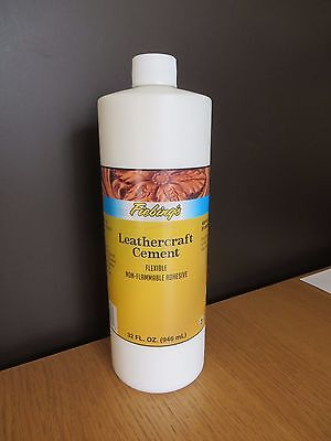 FIEBINGS LEATHER CEMENT /  ADHESIVE / GLUE 946ml  bottle STRONG TANNERS BOND