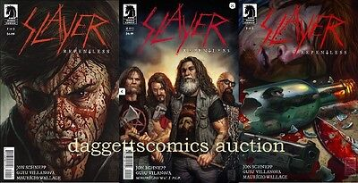 SLAYER REPENTLESS #1 2 3 1st print set DARK HORSE COMIC 2017 metal band rock NM