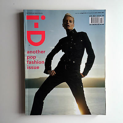 Vintage i-D Magazine October 2001 No. 214 The Popular Issue Bridget Hall Cover
