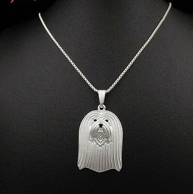 Lhasa Apso Dog Pendant Necklace Silver ANIMAL RESCUE DONATION