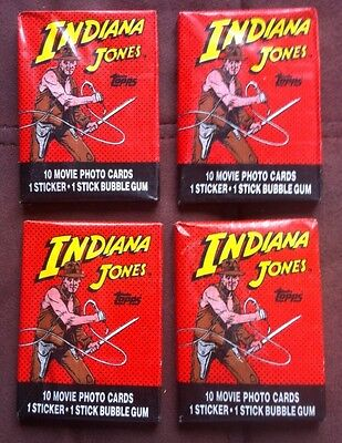 1984 Topps Indiana Jones lot of 4 wax packs*