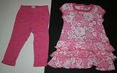 New Old Navy 2 Pc Pretty Floral Ruffle Dress Leggings Set Size 12-18 Months NWT