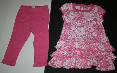 New Old Navy 2 Pc Pretty Floral Ruffle Dress Leggings Set Size 18-24 Months NWT