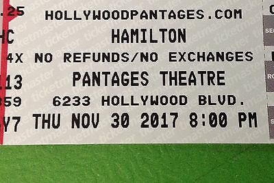 HAMILTON 2 Tickets in hand Hollywood Pantages Los Angeles Orchestra Center 11/30