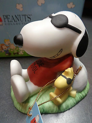 Westland Peanuts #8221 Snoopy Joe Cool with Woodstock Porcelain Figurine NEW