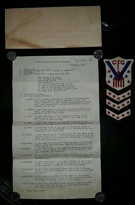 "RARE 1945 Campfire Girls ""Service of Victory"" Patch 3 Chevron Stripes & More Lot"