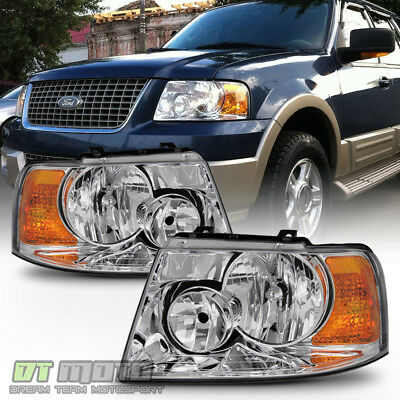 2003-2006 Ford Expedition Headlights Headlamp Replacement Left+Right 03 04 05 06