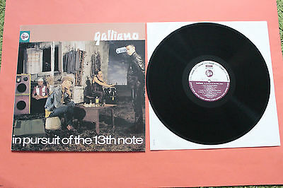 GALLIANO - In Pursuit Of The 13th Note 1991 LP Talkin Loud Rec ACID JAZZ VG++