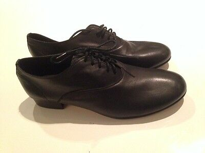Bloch ladies black dress shoes with small heel, like new, size 8.5