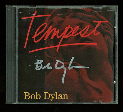 Bob Dylan Signed Tempest CD Insert W/ Disc Autographed BAS #A00375