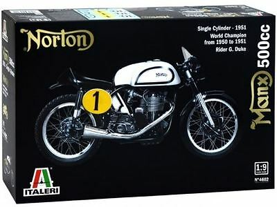 Italeri Model Kit - Norton Manx 500cc Motorbike - 1:9 Scale - 4602 - New