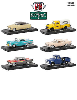Drivers 6 Cars Set Release 39 In Blister Pack 1/64 Cars By M2 Machines 11228-39