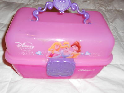Disney Princess Pink Caboodle Like Organizer Carry Case Bag Girls Play Toys Gift