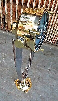 Vintage Marine Brass Spot Light Collected From Navy Ship