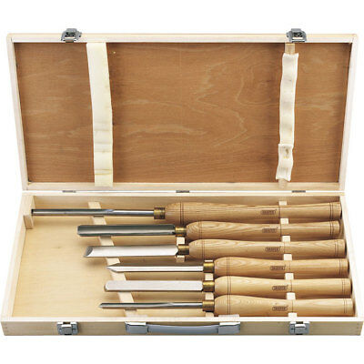 Draper 6 Piece HSS Wood Turning Tool Set