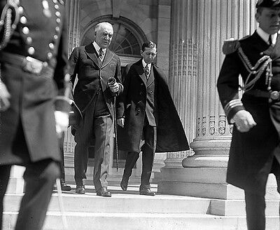 PRESIDENT WARREN B. HARDING WITH WILL HAYES 1920s PHOTO