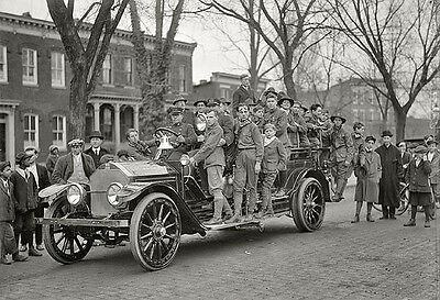 BOY SCOUT FIRE DRILL 1910s PHOTO