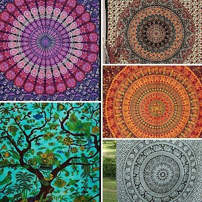 Mandala Tapestry Wall Hanging,Indian Throw,Hippie Tapestry Bedspread Home Decor