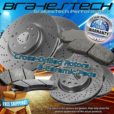 Front+Rear Rotors & Ceramic Pads for (2006-2007) Mazda 6 Turbocharged Mazdaspeed