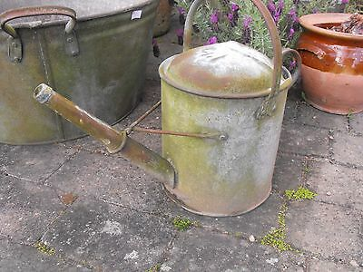 Large Vintage Galvanised Decorative Watering Can 1.5 Gallon