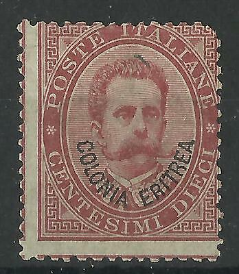 ERITREA 1893 10c ROSE-RED MINT