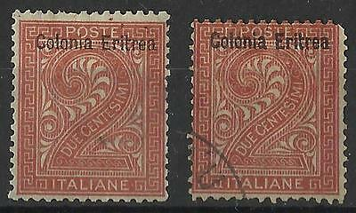 ERITREA 1893 2c BROWN MINT / USED