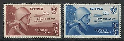 Eritrea 1934 1L+20,2L+20 Rome-Mogadiscio Flight Air Mail Mint