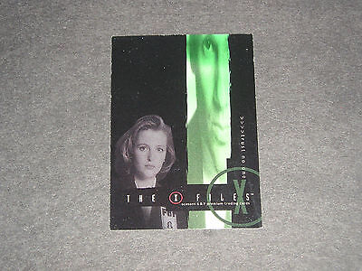 X Files Trading Card  'box Loader'  Xbl1 Season 4/5   ****