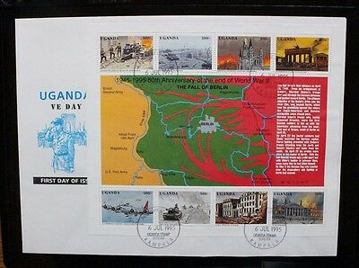 UGANDA 1995 End Second World Aircraft. SHEETLET USED. First Day Cover. SG1464/71