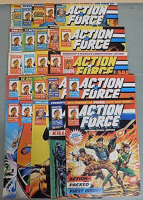 Lot of 25 MARVEL Comic Books ACTION FORCE Issues 1-26 Missing #9 (DH83)