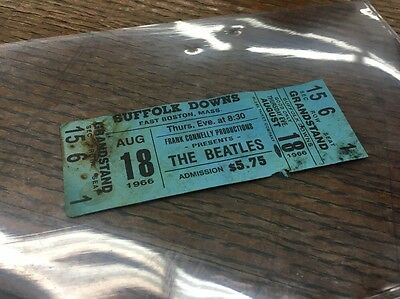 VINTAGE: Authentic THE BEATLES at SUFFOLK DOWNS Concert Ticket (1966)