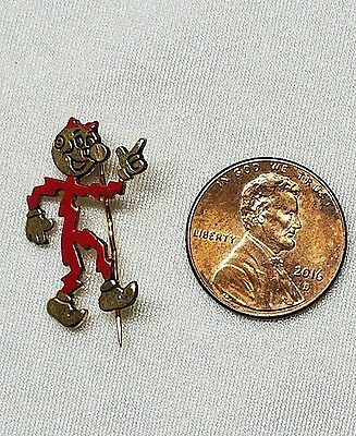 Vintage 1950's Reddy Kilowatt Advertising Electric Character Stick Lapel Pin