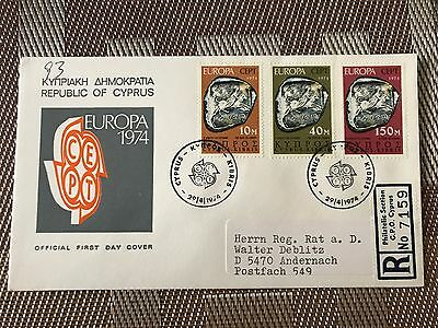 Kyproe Stamp cover  Europa CEPT 1974 FDC