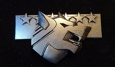 Battletech wolf clan badge pin